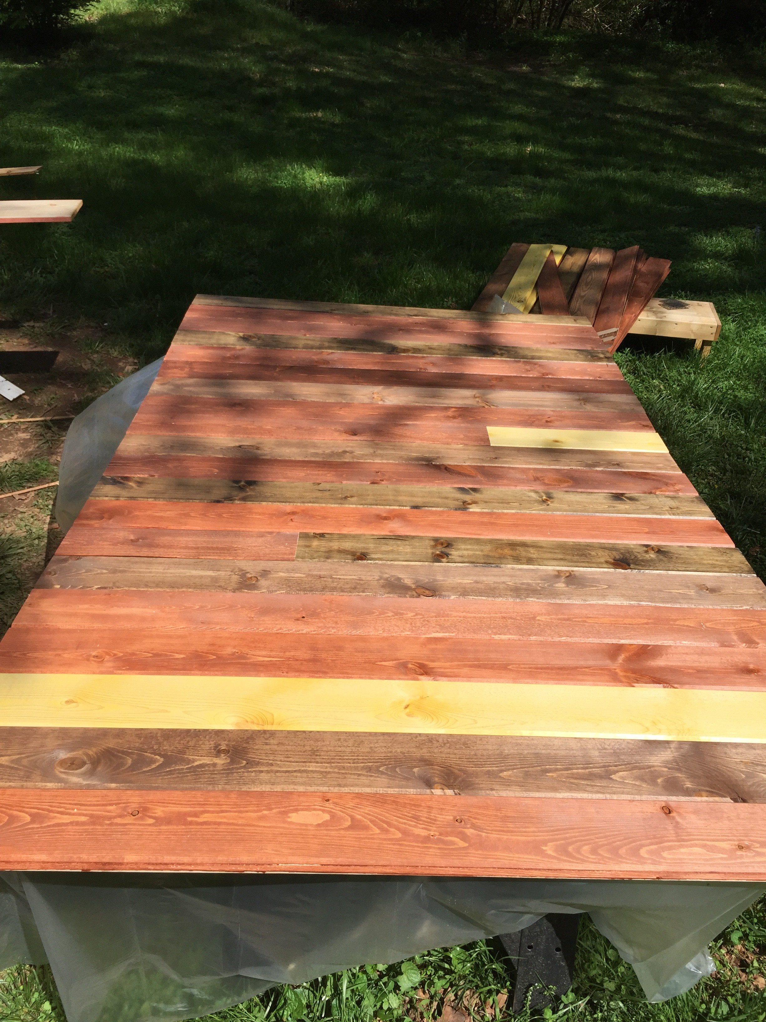 YF Retreat Stage - Stained Boards